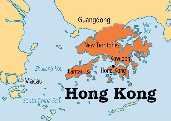 Peta Hong Kong dengan empat kawassannya (dok. istimewa)